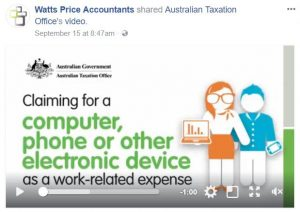 Claiming work related expenses